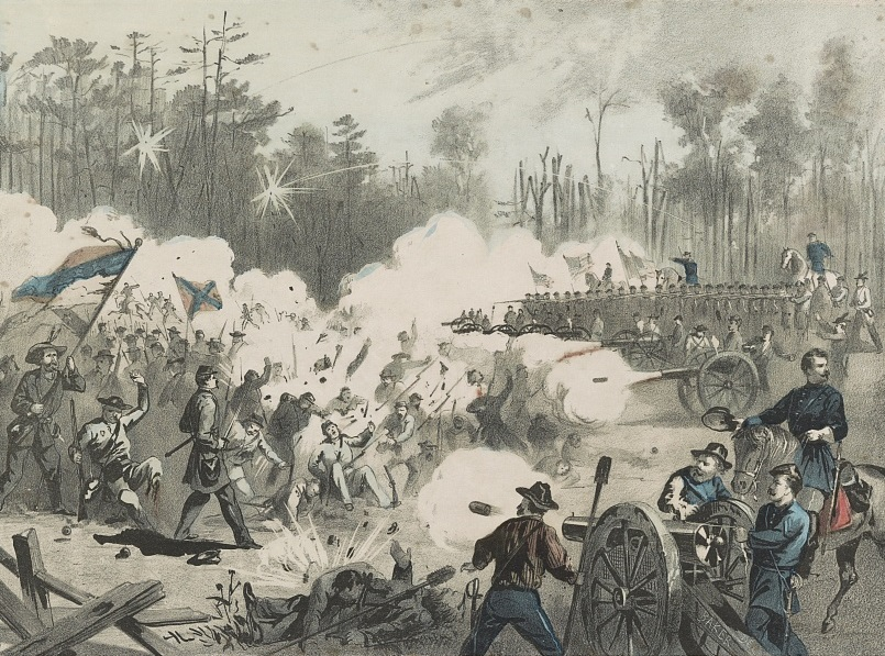 Civil War battle scene